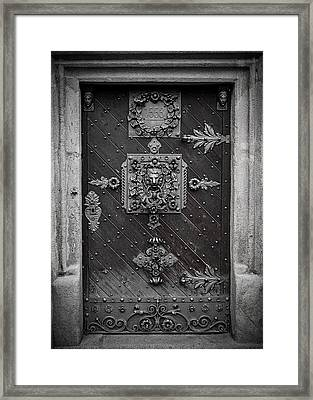 Antique Doors In Budweis Framed Print by Christine Till