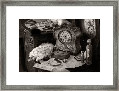 Antique Dresser I Framed Print by Maria Angelica Maira