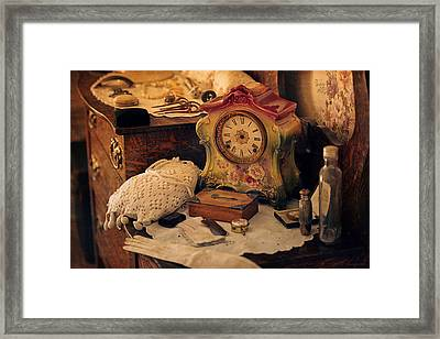 Antique Dresser  Framed Print by Maria Angelica Maira