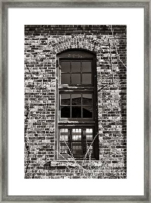 Antique Factory Window Framed Print by Olivier Le Queinec