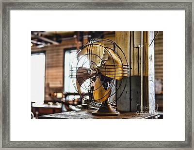 Antique Fan Framed Print by Paul Ward