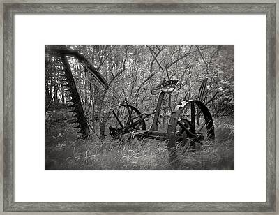 Antique Field Mower Framed Print by Mary Lee Dereske