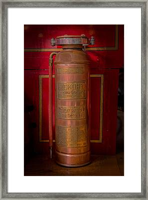 Antique Fire Extinguisher Framed Print by Paul Freidlund