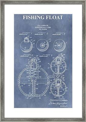 Antique Fishing Bobber Patent Framed Print by Dan Sproul