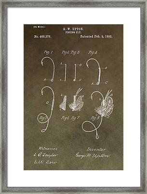 Antique Fishing Fly Patent Framed Print by Dan Sproul