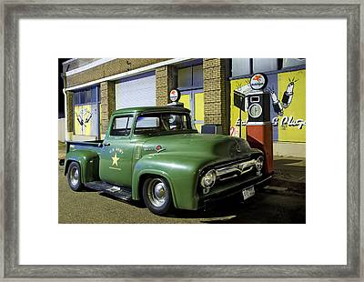 Antique Ford Pickup Framed Print by Dave Dilli