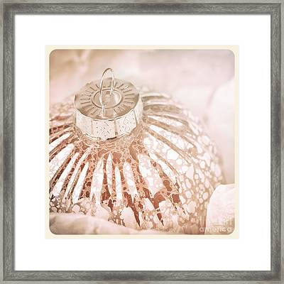 Antique Glass Christmas Tree Bauble Framed Print by Jane Rix