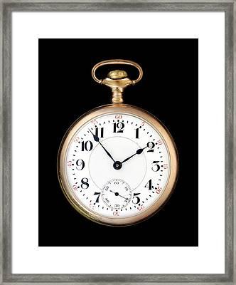 Antique Gold Pocketwatch Framed Print by Jim Hughes