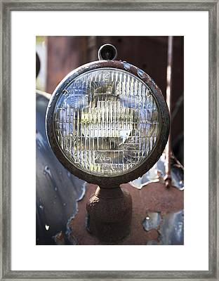 Antique Headlamp Framed Print by Charles Harden