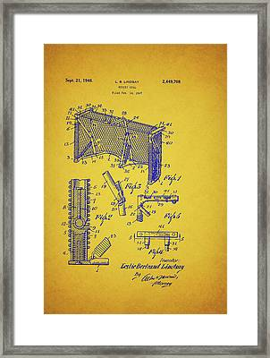 Antique Hockey Goal Patent Framed Print by Mountain Dreams
