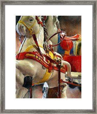 Antique Horse Cart Framed Print by Michelle Calkins
