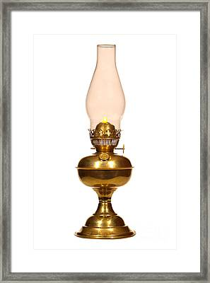 Antique Hurricane Lamp Framed Print by Olivier Le Queinec
