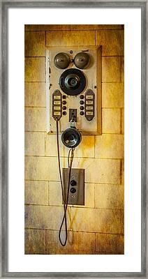 Antique Intercom Framed Print by Paul Freidlund