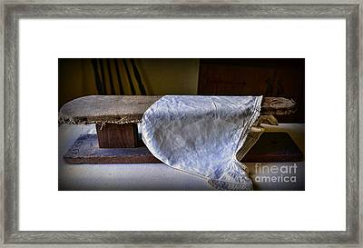 Antique Ironing Board Framed Print by Paul Ward