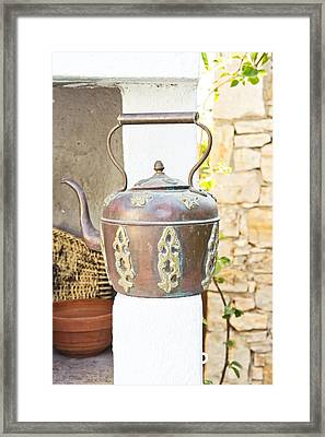 Antique Kettle Framed Print by Tom Gowanlock