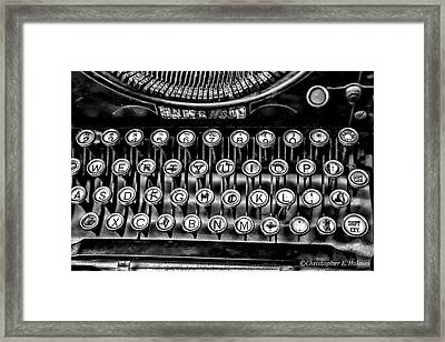Antique Keyboard - Bw Framed Print by Christopher Holmes