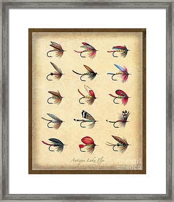 Antique Lake Flys Framed Print by Jon Q Wright