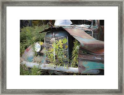 Antique Mack Truck Framed Print by Charles Harden
