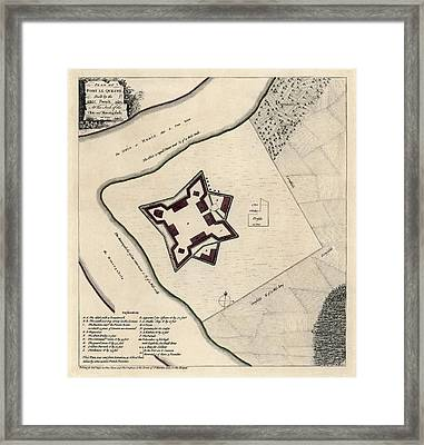 Antique Map Of Early Pittsburgh Pennsylvania By Thomas Jefferys - 1768 Framed Print by Blue Monocle