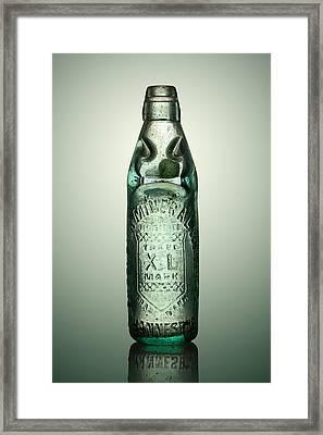 Antique Mineral Glass Bottle Framed Print by Johan Swanepoel