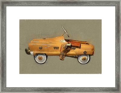 Antique Pedal Car L Framed Print by Michelle Calkins