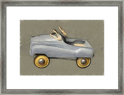 Antique Pedal Car Ll Framed Print by Michelle Calkins