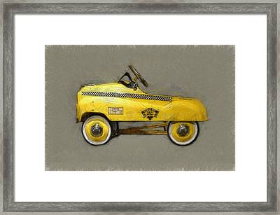 Antique Pedal Car Lll Framed Print by Michelle Calkins