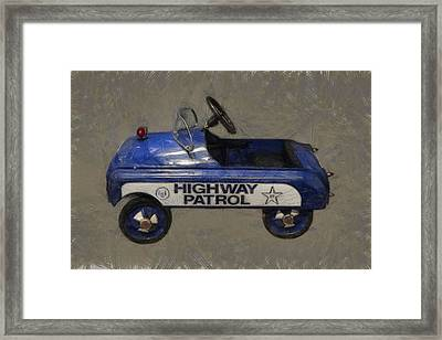 Antique Pedal Car V Framed Print by Michelle Calkins