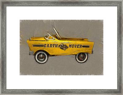 Antique Pedal Car Vl Framed Print by Michelle Calkins