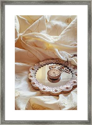 Antique Pocket Watch Framed Print by Amanda And Christopher Elwell