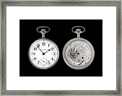 Antique Pocketwatch Framed Print by Jim Hughes
