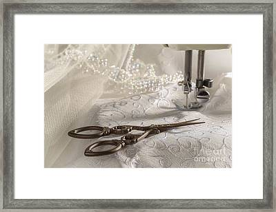 Antique Scissors Framed Print by Amanda Elwell