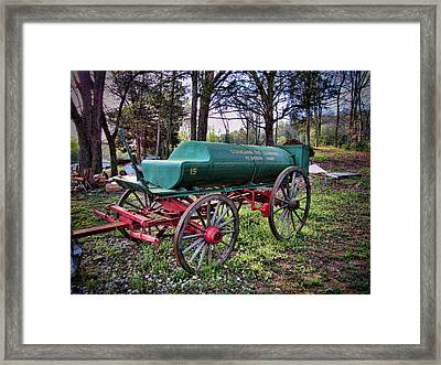 Antique Standard Oil Company Tanker Wagon Framed Print by Kathy Clark