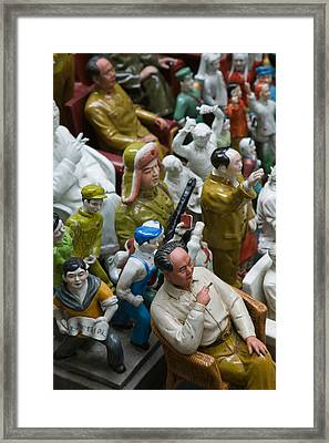 Antique Store Display Of Chairman Maos Framed Print by Panoramic Images