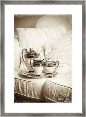 Antique Tea Set Framed Print by Amanda And Christopher Elwell