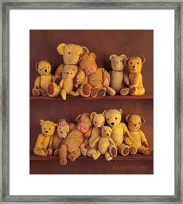 Antique Teddies Framed Print by Anne Geddes