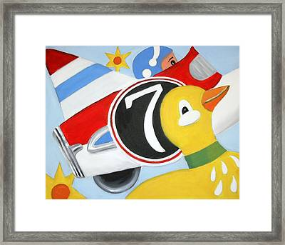 Antique Toys Framed Print by Stacy C Bottoms