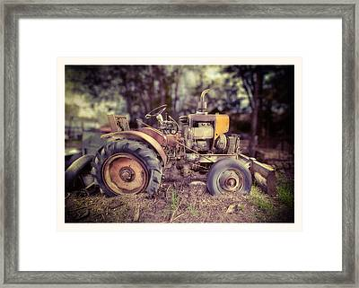 Antique Tractor Home Built Framed Print by Yo Pedro