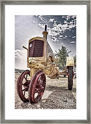 Antique Tractor Framed Print by Tamyra Ayles
