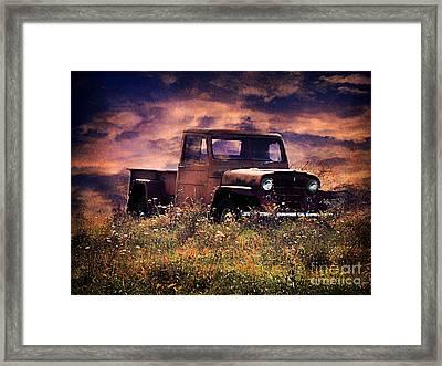 Antique Truck Framed Print by Darren Fisher