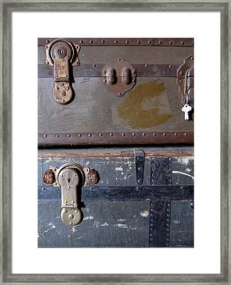 Antique Trunks 5 Framed Print by Anita Burgermeister