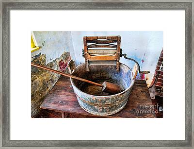 Antique Washing Machine Framed Print by Paul Ward