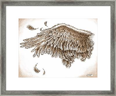 Antiqued Wing Framed Print by Adam Zebediah Joseph