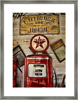 Antiques And Junque Framed Print by Heather Applegate