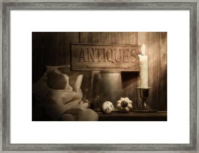 Antiques Still Life Framed Print by Tom Mc Nemar