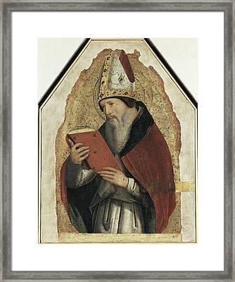 Antonello Da Messina. Saint Augustin Framed Print by Everett
