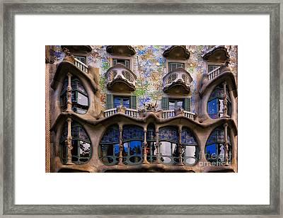 Antoni Gaudi Casa Batllo Facade Framed Print by George Oze