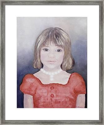 Antonia Portrait Framed Print by Barbara Anna Knauf