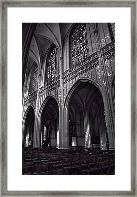 Antwerp Cathedral Framed Print by Joan Carroll