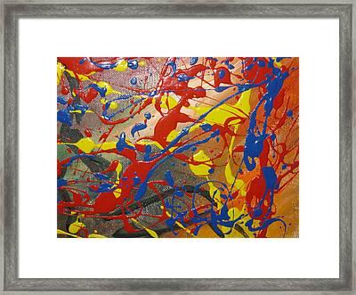 Anxious Framed Print by Becky Van Pelt